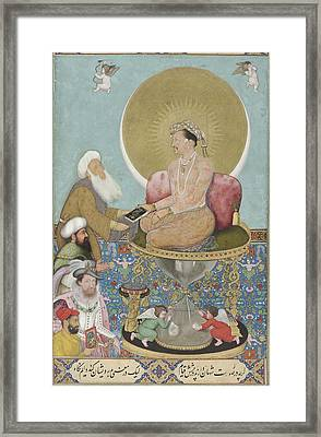 Jahangir Preferring A Sufi Sheikh To Kings Framed Print by Celestial Images