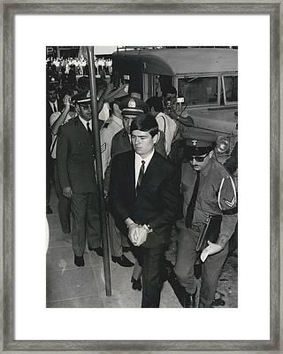 Jailed Arabs Await Skyjack Swap Framed Print by Retro Images Archive