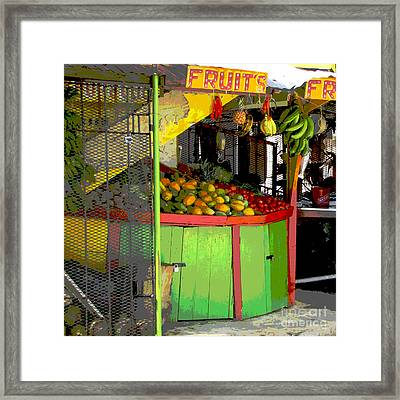 Jamaican Fruit Stand Framed Print