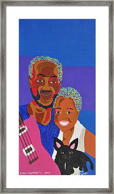 Framed Print featuring the painting James And Monique by Erika Chamberlin