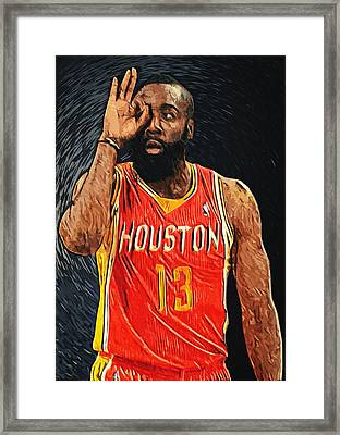 James Harden Framed Print by Taylan Apukovska
