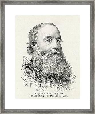 James Prescott Joule (1818-1889) Framed Print by  Illustrated London News Ltd/Mar