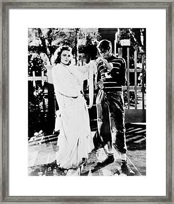 James Stewart In It's A Wonderful Life  Framed Print