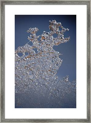 Jammer Fractal Ice 001 Framed Print by First Star Art