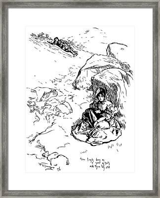 Jane Eyre Illustration Framed Print by
