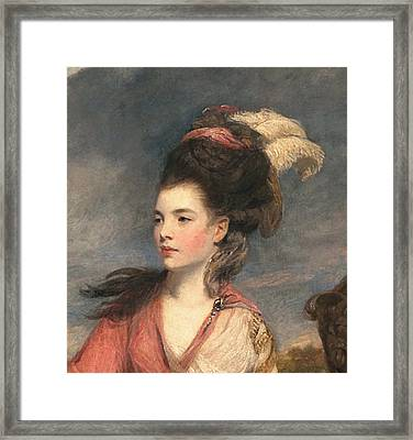 Jane Fleming, Later Countess Framed Print by Sir Joshua Reynolds