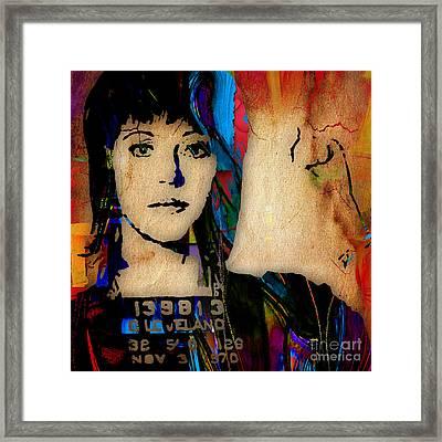 Jane Fonda Collection Framed Print