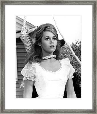 Jane Fonda In Cat Ballou  Framed Print by Silver Screen