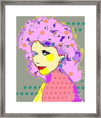 Jane Fonda Framed Print by Ricky Sencion