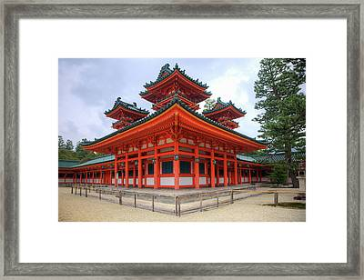 Japan, Kyoto Colorful Shinto Shrine Framed Print by Jaynes Gallery