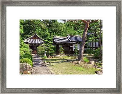 Japan, Nara Grounds Of The Shingon-in Framed Print