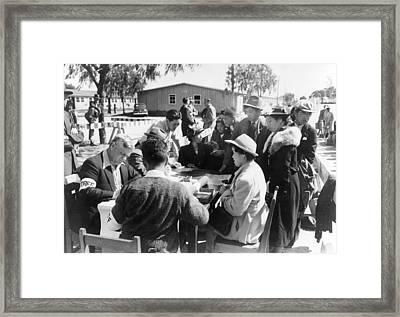 Japanese Internment, 1942 Framed Print by Granger