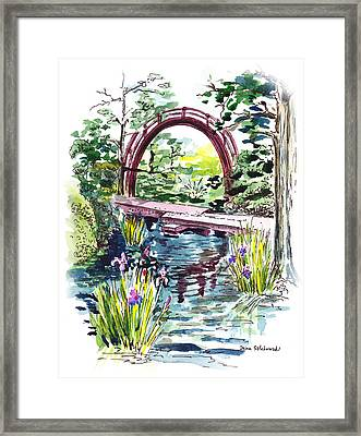 Japanese Tea Garden San Francisco Framed Print by Irina Sztukowski