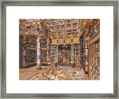Japanese Tower In The Royal Park Framed Print by Alexandre Auguste Louis Marcel