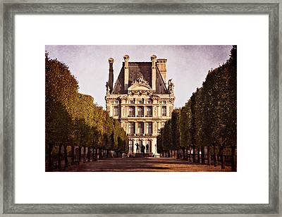 Framed Print featuring the photograph Jardin Des Tuileries / Paris by Barry O Carroll