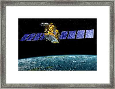 Jason-3 Satellite Framed Print