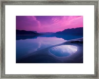 Jasper Lake Sunrise Framed Print