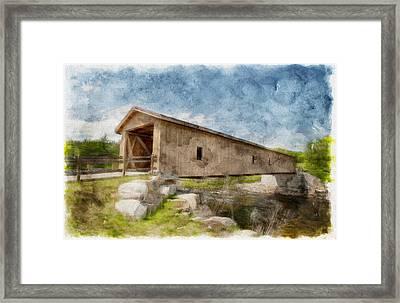 Jay Covered Bridge Framed Print