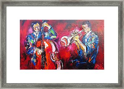 Jazz Duo- Ideal For Jazz Venues Framed Print