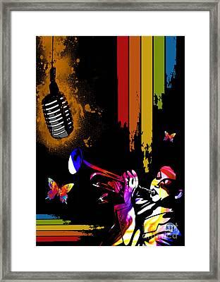 Jazz Framed Print by Mundo Arte