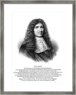 Jean-baptiste Colbert (1619-1683) Framed Print by Granger