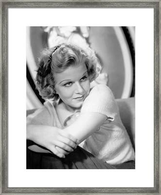 Jean Harlow, Just After Getting Framed Print by Everett