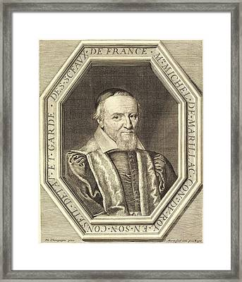 Jean Morin After Philippe De Champaigne Framed Print by Litz Collection