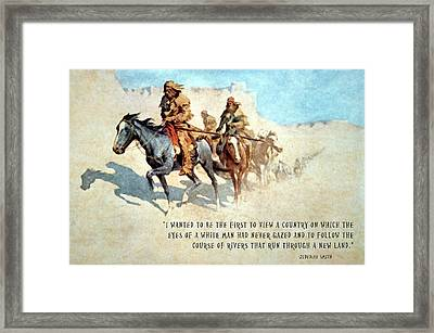 Jedediah Smith Crossing The Mojave Desert Framed Print