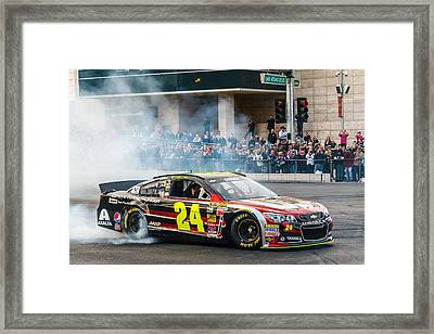 Jeff Gordon Framed Print by James Marvin Phelps