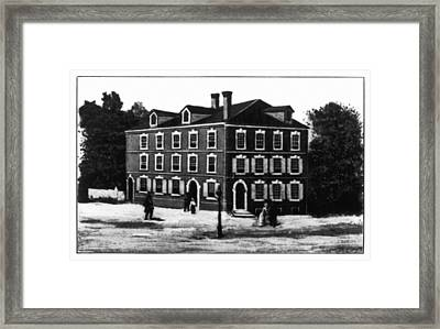 Jefferson's House, 1776 Framed Print
