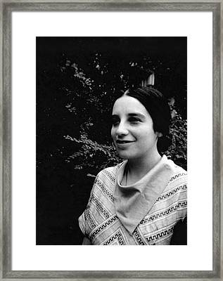 Jenny Bramley Framed Print by Emilio Segre Visual Archives/american Institute Of Physics