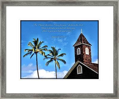 Jeremiah 29 11 Framed Print
