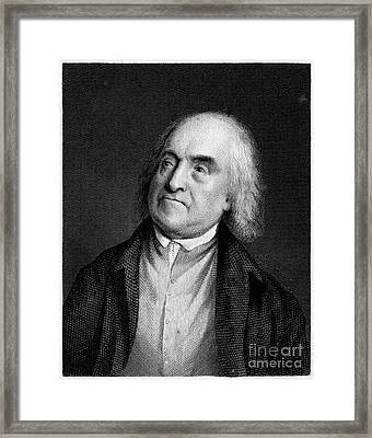 Jeremy Bentham, English Social Reformer Framed Print by Middle Temple Library