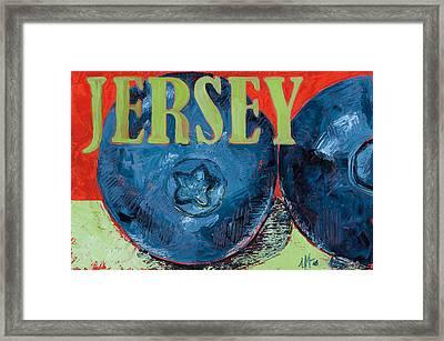 Jersey Blues Framed Print by Jennie Traill Schaeffer