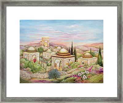 Jerusalem Landscape Framed Print by Michoel Muchnik