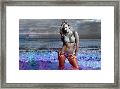 Jessica Alba Framed Print by Marvin Blaine