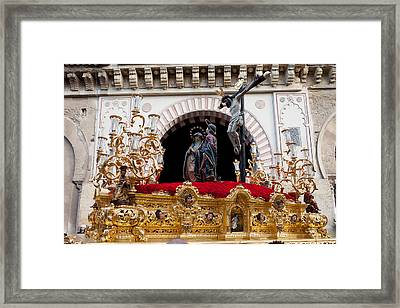 Jesus Christ On The Cross In Cordoba Framed Print by Artur Bogacki