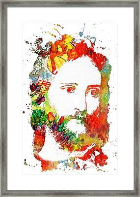 Jesus Christ - Watercolor Framed Print