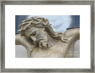 Jesus - Christian Art - Religious Statue Of Jesus Framed Print by Kathy Fornal