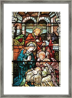 Jesus Is Born Framed Print by Adam Jewell