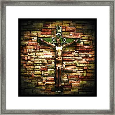 Jesus Is His Name Black Border Framed Print