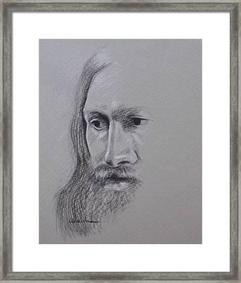 Jesus Framed Print by Kathy Weidner