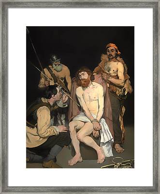 Jesus Mocked By The Soldiers Framed Print by Mountain Dreams