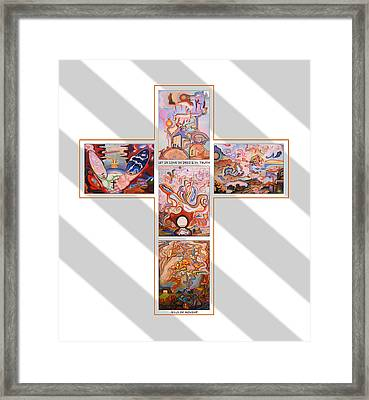 Jesus Of Advent G S Framed Print by Aswell Rowe