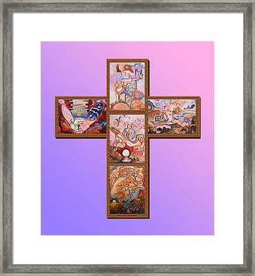 Jesus Of Advent L P M Framed Print by Aswell Rowe