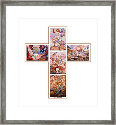 Jesus Of Advent O W Framed Print by Aswell Rowe
