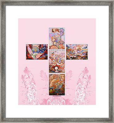 Jesus Of Advent P P Framed Print by Aswell Rowe