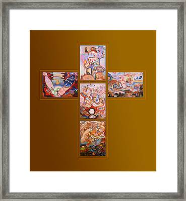 Jesus Of Advent R G Framed Print by Aswell Rowe