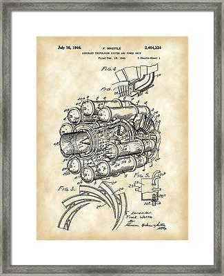 Jet Engine Patent 1941 - Vintage Framed Print