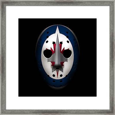 Jets Goalie Mask Framed Print
